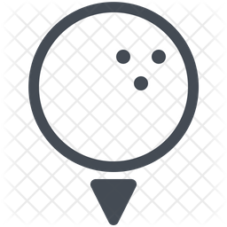Golf Ball Icon Of Colored Outline Style Available In Svg Png Eps Ai Icon Fonts