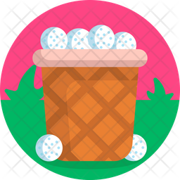 Golf Ball Container Icon