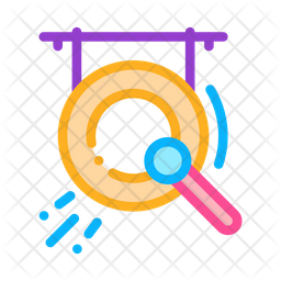 Gong Colored Outline Icon