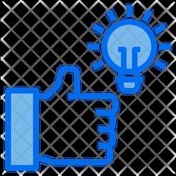 Good Idea Colored Outline Icon