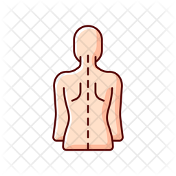Good posture Colored Outline Icon