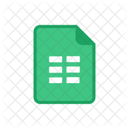 Download Google sheet Icon of Colored Outline style - Available in ...
