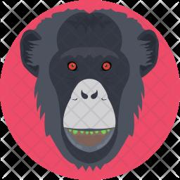 Gorilla Flat Icon