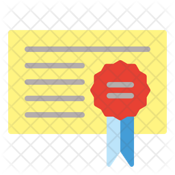 Government Certificate Flat Icon