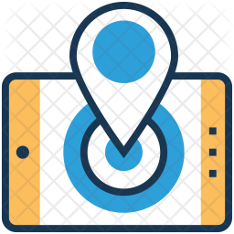 GPS Colored Outline Icon