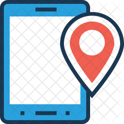 GPS Device Colored Outline Icon