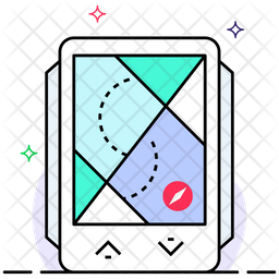 Gps Monitoring Colored Outline Icon