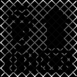 Gradated Salary Graph Glyph Icon