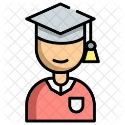 Graduate Student Icon Of Colored Outline Style Available In Svg Png Eps Ai Icon Fonts