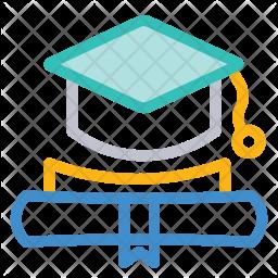 Graduation Colored Outline Icon