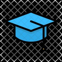 Graduation Cap Colored Outline Icon