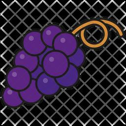 Blue grapes Icon