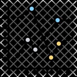 Graph Colored Outline Icon