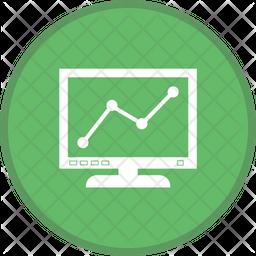 Graph Line Screen Icon