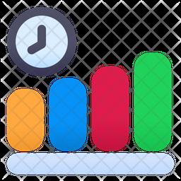 Graph Time Flat Icon