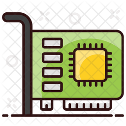 Graphic Card Colored Outline Icon