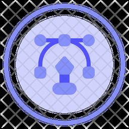 Graphic Design Colored Outline Icon