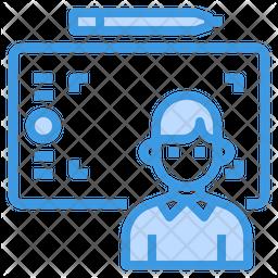 Graphic Designer Colored Outline Icon