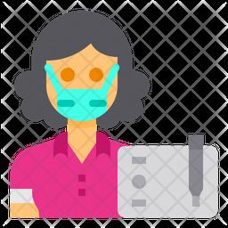 Graphic Designer Flat Icon