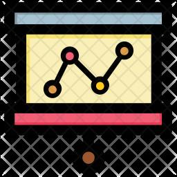 Graphic Presentation Colored Outline Icon