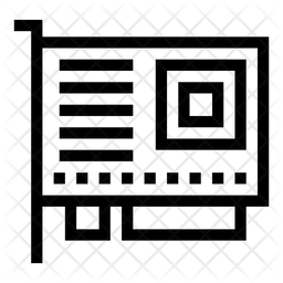 Graphics Card Line Icon