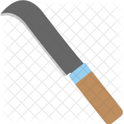 Grass Cutter Knife Icon