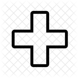 Greek Cross Line Icon