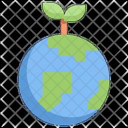 Green earth Flat Icon