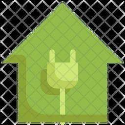 Green Plug Flat Icon