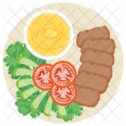 Grilled Sausage Dipping Icon