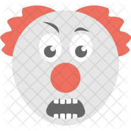 Grimacing Clown Icon