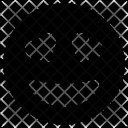 Grin Hearts Emoji Icon