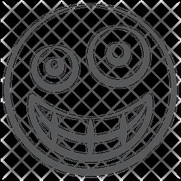 Grinning Zany Emoji Doodle  Emoji Icon