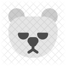 Grizzly Bear Flat Icon