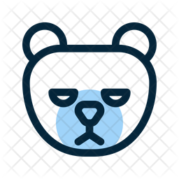 Grizzly Bear Colored Outline Icon