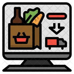 Grocery web shopping Icon