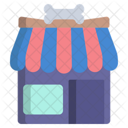 Gromming Shop Flat Icon