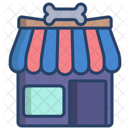 Gromming Shop Colored Outline Icon
