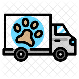 Grooming Delivery Colored Outline Icon