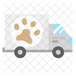 Grooming Delivery Flat Icon
