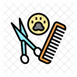 Grooming Kit Colored Outline Icon