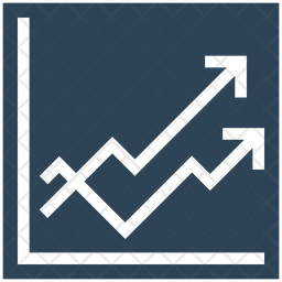 Growth Graph Flat Icon