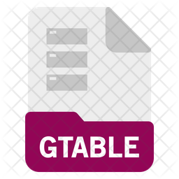Gtable file Icon