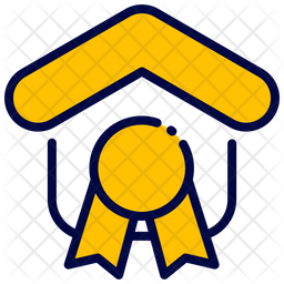 Guaranted Colored Outline Icon