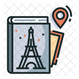 Guidebook Colored Outline Icon