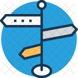 Guidepost Colored Outline Icon