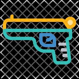 Gun Colored Outline Icon