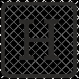 H Letter Icon