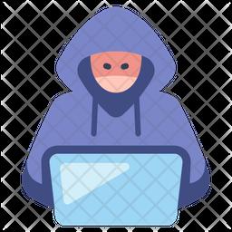Hacker Laptop Icon