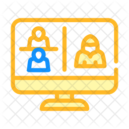 Hacking Online Communication Icon